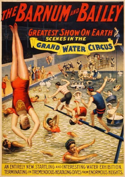 The Barnum & Bailey Greatest Show on Earth Scenes in the Grand Water Circus Print/Poster (4871)